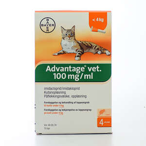 Advantage pour-on kat 0-4 kg