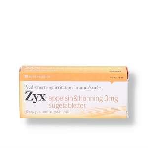 Zyx appelsin & honning 3 mg