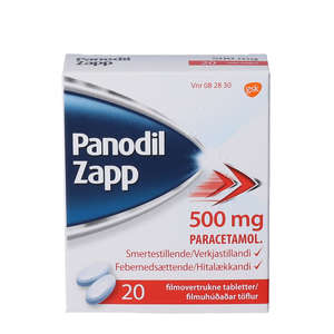 Panodil Zapp 500 mg