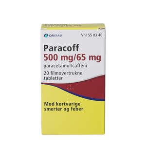 Paracoff 500+65 mg 20 stk