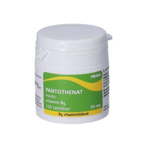 Pantothenat vitamin B5 tabletter