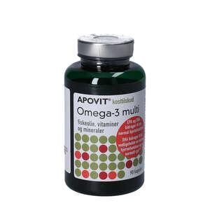 Apovit Omega-3 Multi Kapsler (90 stk)