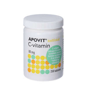 Apovit C-vitamin tabletter 80 mg (250 stk)