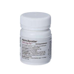 Ferro Duretter 100 mg 100 stk