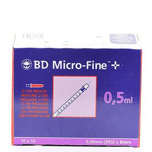 BD Micro-Fine+ Insulinsprøjte 0,50 ml / 30G