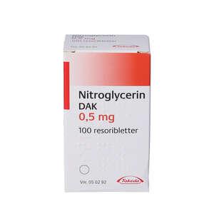 """Nitroglycerin """"DAK"""" 0,5 mg 100 stk"""
