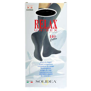 Solidea Relax Unisex Cotton Knæstrømper (XXL/sort/lukket)