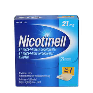 Nicotinell 21 mg/24 timer 21 stk