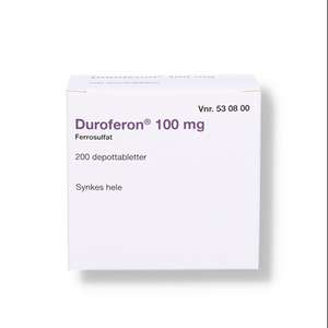 Duroferon 100 mg (2C4) 200 stk