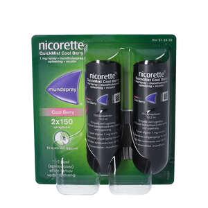 Nicorette Quickmist Cool Berry 2 * 150 doser