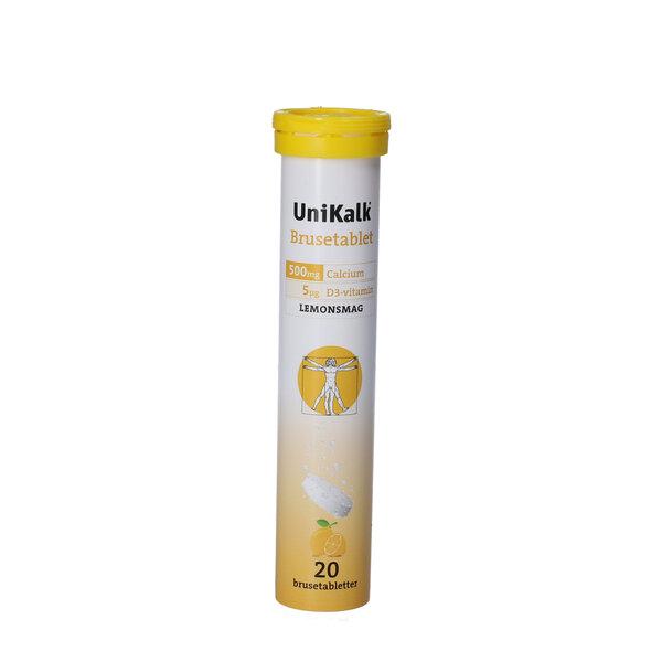 Unikalk Brusetabletter (lemon)