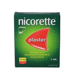 Nicorette invisi plaster 15mg 7 stk
