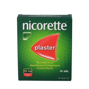 Nicorette invisi plaster 25mg 14 stk