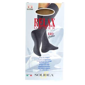 Solidea Relax Unisex Cotton Knæstrømper (M/natur/lukket)