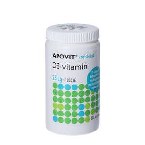 Apovit D3-vitamin tabletter 25 mikg 300 stk