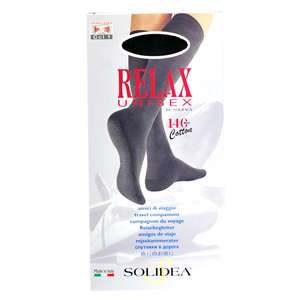 Solidea Relax Unisex Cotton Knæstrømper (S/sort/lukket)