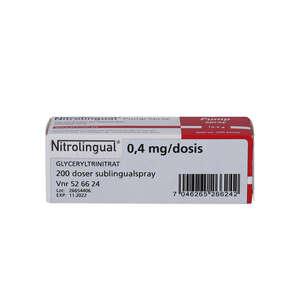 Nitrolingual spray (OR) 200 doser