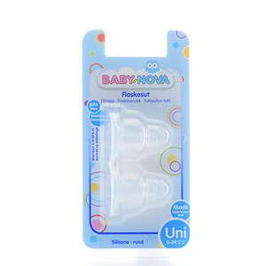 Baby-Nova Flaskesutter (silikone - rund/mælk)