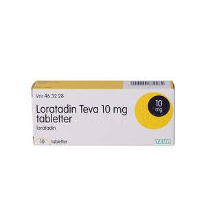 """Loratadin """"Teva"""" 10 mg 10 stk"""