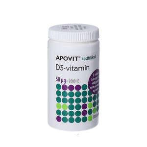 Apovit D3-vitamin tabletter (50 mikg) 200 stk